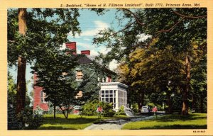 Maryland Princess Anne Beckford Home Of H Filmore Lankford Curteich