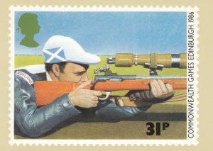 Shooting Guns, Rifle shooting Postcard , 1986