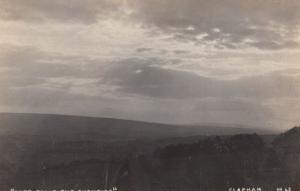 East Falls In Clapham Glorious Antique Real Photo Dusk London Postcard