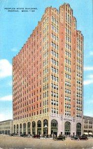 Michigan Pontiac Peoples State Building 1949