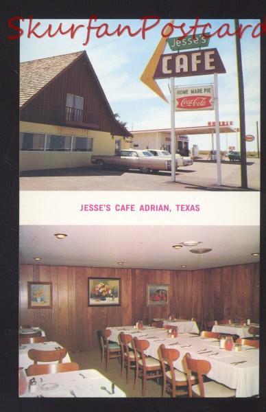Adrian Texas Jesseu0027s Café Route 66 Restaurant OLD Cars Advertising Postcard  · View All. San Angelo Texas~El Patio ...