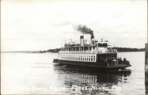 Casco Bay ME Peaks Island ME Ferry Boat Nancy Helen Real Photo Postcard
