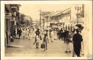 panama, Central Avenue, Navy Sailors (1930s) RPPC