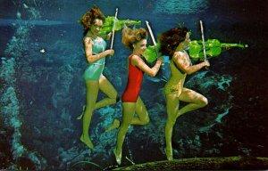 Florida Weeki Wachee Springs Underwater Show Mermaids Playing Violins