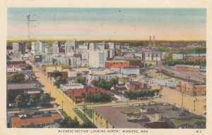 WINNIPEG , Manitoba , Canada , 1930s ; Business Section