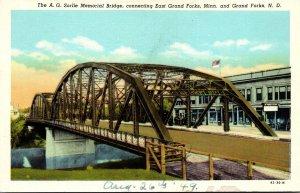 North Dakota Grand Forks The A G Sorlie Memorial Bridge Curteich