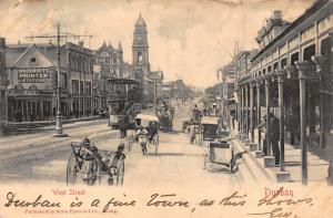 South Africa Durban West Street rickshaw 1903 postcard