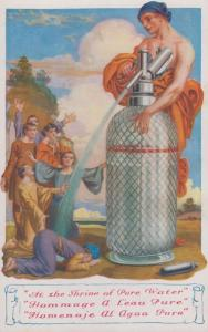 Shrine Of Pure Water Worship Risque Deity French Unique Old Postcard