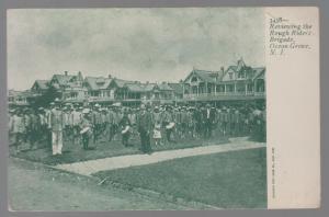 Mint RPPC Postcard US Army Rough Riders Brigade Review in Ocean Grove NJ