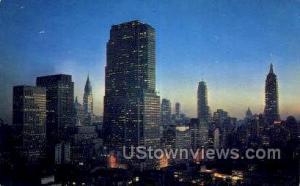 R.C.A. Bldg, Chrysler Bldg. New York City NY Unused