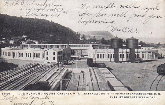 D & H Railroad Round House Oneonta New York 1906
