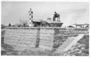 Billings Montana Airport Monument Real Photo Antique Postcard K95019