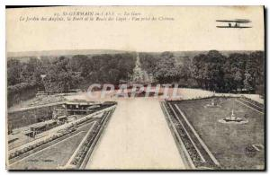Old Postcard Saint Germain en Laye Station of the English Garden and the Fore...