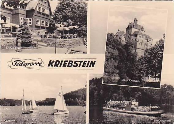 RP, 4Views, Grossgaststatte, Talsperre, Burg Kriebstein, Boot Kriebstein, Kri...