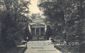 Mausoleum Aeusseres Charlottenburg Germany Writing on back