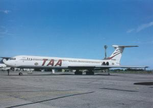 TAA, TRANS ASIAN AIRLINES, IL-62, unused Postcard