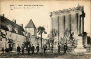 CPA PONS - Donjon Mairie et École de Filles (104601)