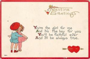 Valentine~Boy & Girl: One for Me~Faithful Ever~Always True~Cupid Lights Heart