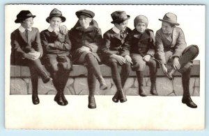 Advertising WEARPLEDGE SUITS & OVERCOATS for BOYS Clothing c1910s-20s Postcard