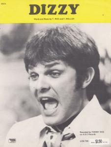 Dizzy Tommy Roe 1960s Sheet Music