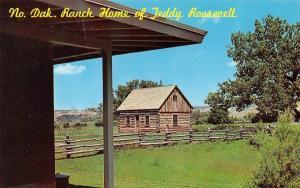 MEDORA, ND North Dakota  PRESIDENT TEDDY ROOSEVELT RANCH HOME  Chrome Postcard