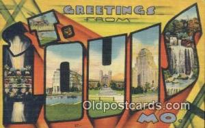 St. Louis, MO, USA Large Letter Town Postcard Post Card Old Vintage Antique  ...