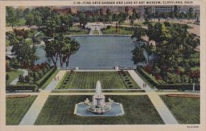 Ohio Cleveland Fine Arts Garden And Lake At Art Museum