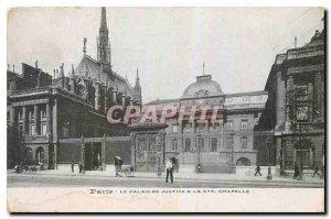 Old Postcard Paris Palais de Justice & Ste Chapelle
