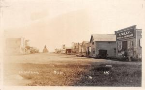 E23/ St Walburg Saskatchewan Canada Postcard Real Photo RPPC 1926 Main Street