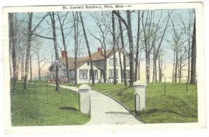 Dr. Bonine's Residence, Niles, Michigan, PU-1930