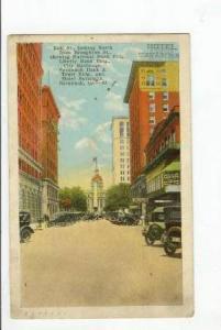 Bull St, Hotel Savannah, Georgia,PU-1925