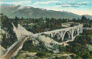 Arroyo Seco, Colorado Street Bridge Pasadena California CA Divided Back
