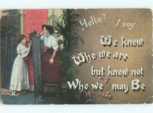 Divided-Back PRETTY WOMAN Risque Interest Postcard AA7843