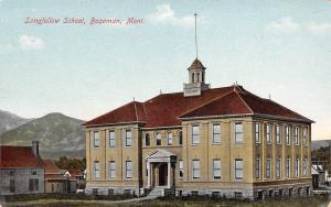 Bozeman Montana~Longfellow School~Eight Grades Supplied~Willie Goes~Houses~1908