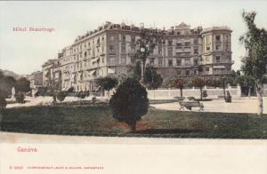 GENEVE, Switzerland, 1900-1910s; Hotel Beaurivage