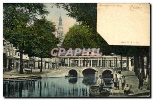 Old Postcard Leiden Korenbeurs in Brug Children