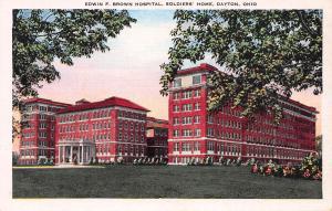 Edwin F. Brown Hospital, Soldiers' Home, Dayton, Ohio, Early Postcard, Unused