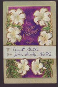 Easter Greetings,Flowers Postcard