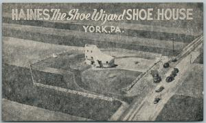 YORK PA SHOE HOUSE HAINES THE SHOE WIZARD ANTIQUE POSTCARD