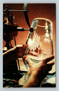 Corning NY, The Corning Glass Center, Steuben Glass, Chrome New York Postcard