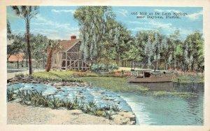 DAYTONA FLORIDA~OLD MILL AT DE LEON SPRINGS~1920s POSTCARD