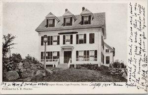 The Prospect House Cape Porpoise Maine ME c1905 L.E. Fletcher Postcard G94