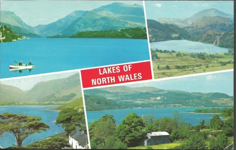 Postcard Multiview LAKES of NORTH WALES by ETW Dennis & Sons Ltd