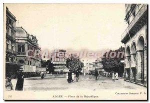 Postcard Old Algiers Place De La Republique