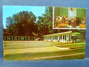 Postcard AL Opelika Golden Cherry Motel 1950's Old Car