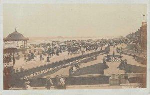 RPPC REDCAR Seaside Crowds North Yorkshire, England c1910s Vintage Postcard