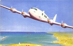De Havilland Albatross Monoplane Signed Bernard W. Hurca Postcard