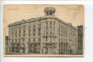424216 POLAND 1901 year WARSZAWA Hotel Bristol Vintage postcard