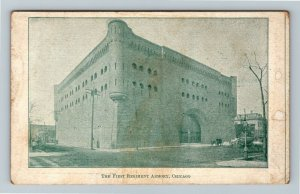 Chicago IL-Illinois, The First Regiment Armory Building, Vintage Postcard