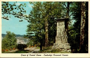 Kentucky Frankfort Monument and Grave Of Daniel Boone